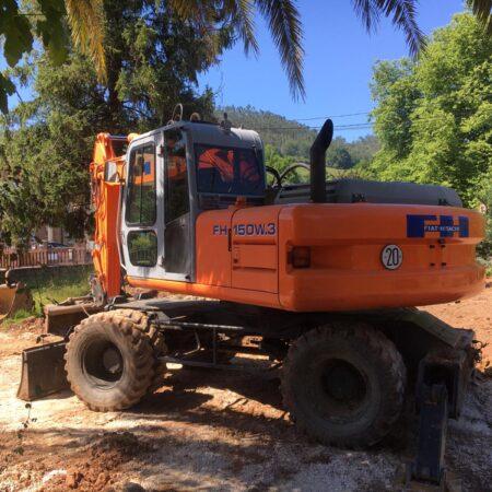 Excavadora de ruedas Fiat-HITACHI 150.3 ocasión
