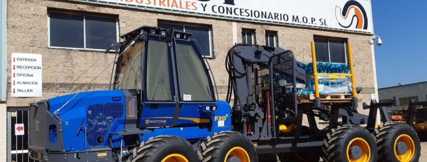 SICMOP Vende el primer auto-cargador forestal marca Rottne, modelo F 20N en España